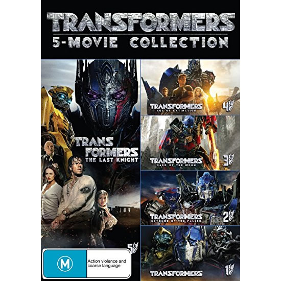 Transformers 5 Movie Collection DVD (for NZ Buyers)