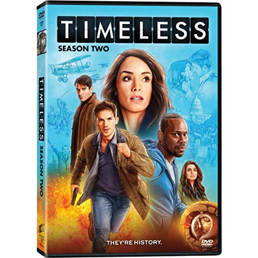 Timeless - The Complete Season 2 DVD (for NZ Buyers)