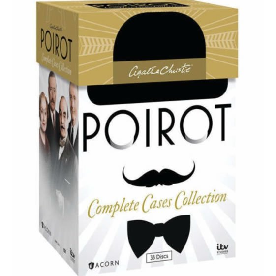 Agatha Christie's Poirot: Complete Cases Collection DVD (for NZ Buyers)