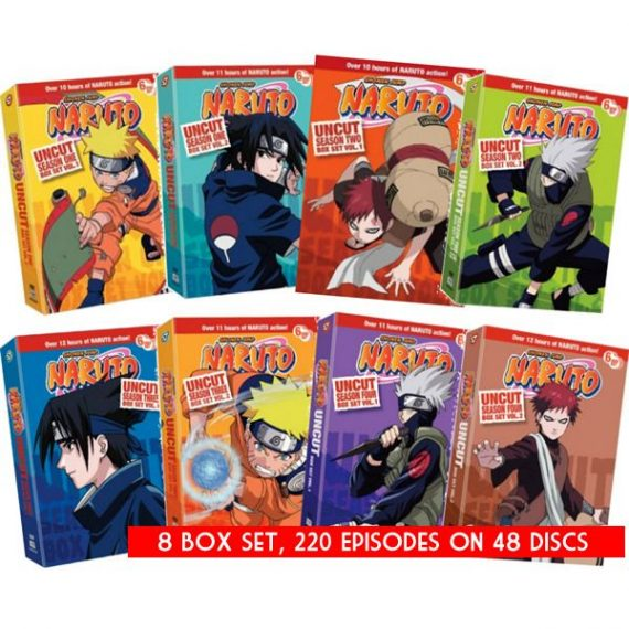 Naruto Uncut: The Complete Series 1-4 (for NZ Buyers)