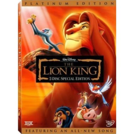 The Lion King Platinum Edition: Animate DVD (for NZ Buyers)