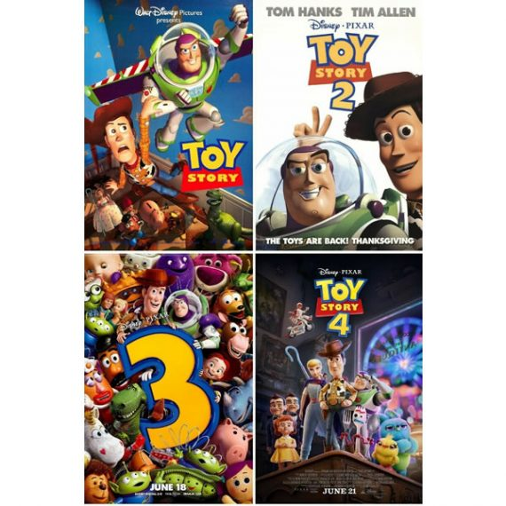 Toy Story 1-4: Animate DVD (for NZ Buyers)