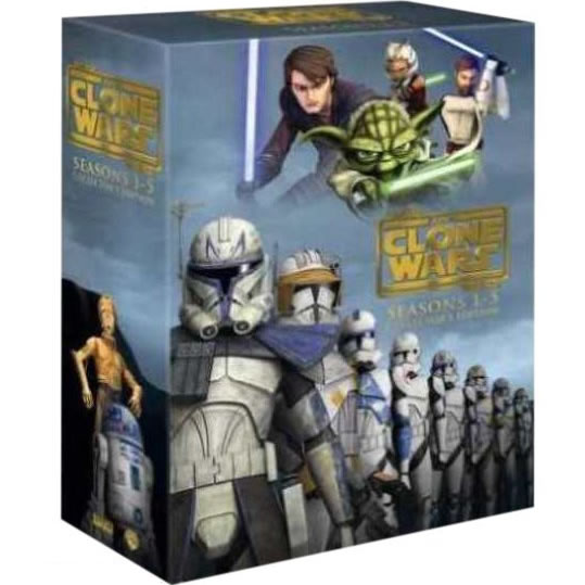 star wars the clone wars complete series 1-5 dvd