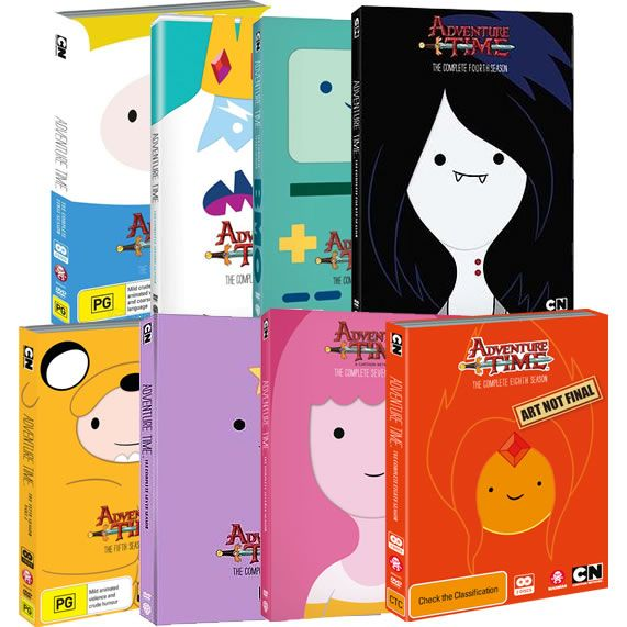 Adventure Time Complete Series 1-8 DVD ON SALE (21-Disc 2020)