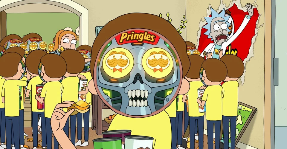 Rick & Morty Are Trapped In A Pringles Ad For Super Bowl Commercial