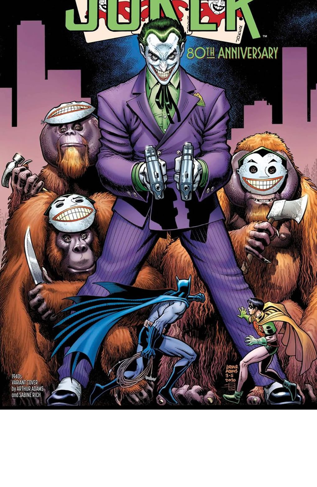 The JOKER 80th Anniversary: Variant Covers & Comic Preview