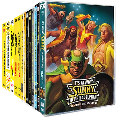 It's Always Sunny in Philadelphia Complete Series 1-14 DVD ON SALE (30-Disc 2020)